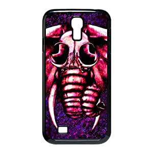Cute Pink Elephant with Glasses Custom Design Samsung Galaxy S4 I9500 Hard Case Cover phone Cases Covers in DDJK CASE