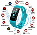 Activity Trackers Sport Smart Watch Color Screen Fitness Tracker Heart Rate Blood Pressure Monitor Bluetooth Wearable Technology Wristband Step Counter Smart Bracelet for Android and iOS (Sky Blue)