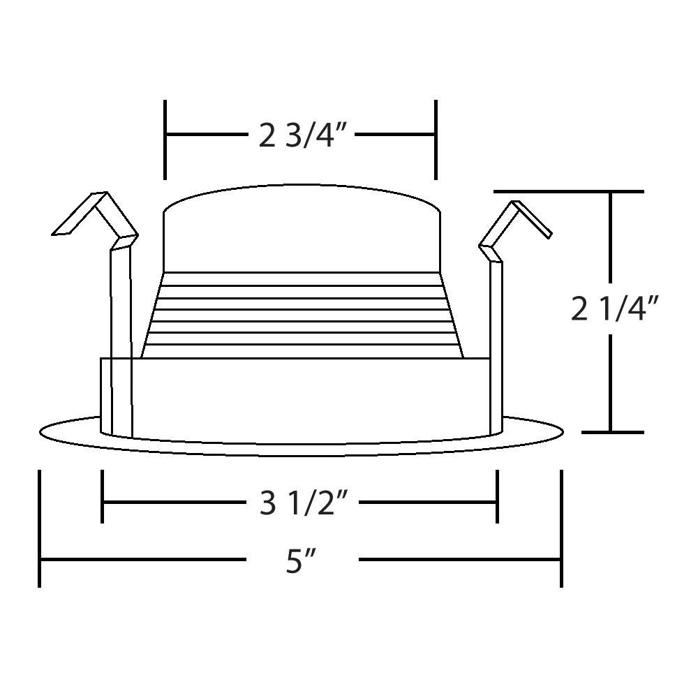 4 Inch Recessed Can Black Step Baffle, for 4 Inch Recessed Can, Fit Halo/Juno Remodel Recessed Housing, for PAR16, PAR20, R20 (Black, 10 Pack) by Four Bros Lighting