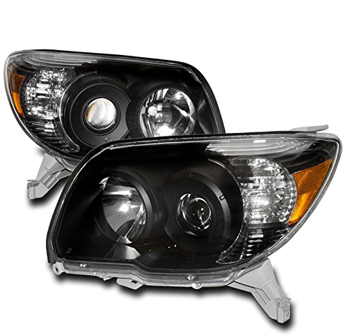 - ZMAUTOPARTS Projector Black Headlights Headlamps For 2006-2009 Toyota 4Runner