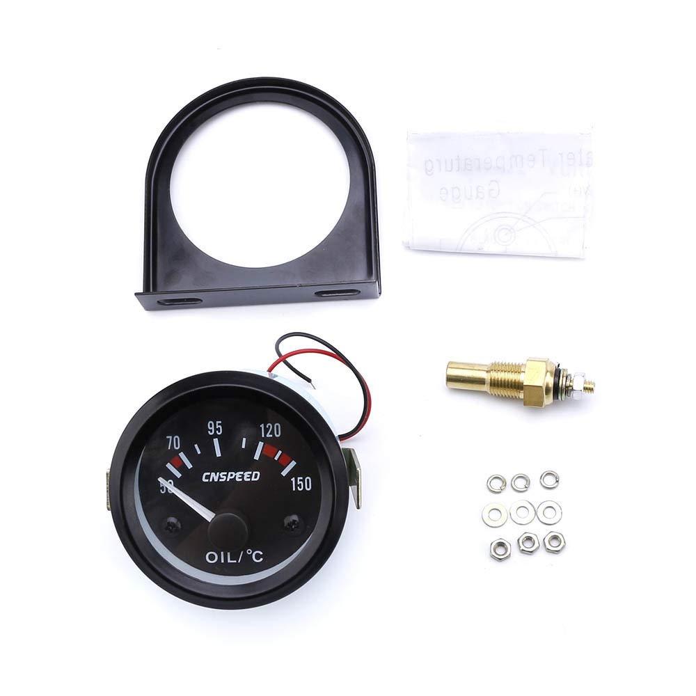 SJ-GPS Speedometer Durable 52mm Gauge Universal 12V Oil Temp Gauge 50~150C Oil Temp Instrument With Oil Temp Sensor Lightweight