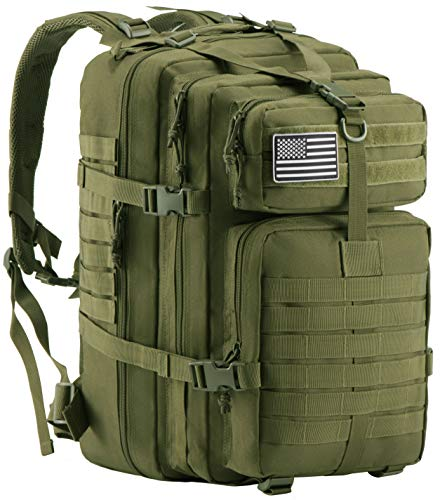 Luckin Packin Military Tactical Backpack, Molle Bag, Rucksack Pack, 45 Liter Large