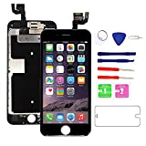 for iPhone 6S Screen Replacement (Black) with Front Camera, 3D Touch Screen Digitizer Frame for A1633, A1688, A1700 Full Assembly with Ear Speaker- Proximity Sensor-Repair Tool Kits-Screen Protector