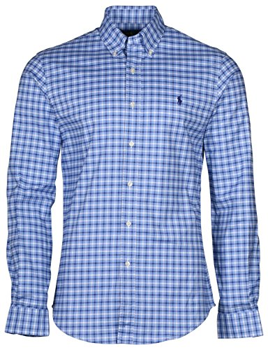 polo-ralph-lauren-mens-long-sleeve-stretch-oxford-slim-fit-button-down-plaid-shirt-sky-blue-m