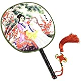 Attractive Chinese Round Fan Classical Dancing Dan With Beautiful Pattern, #12