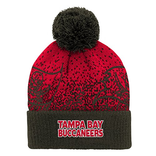 Outerstuff NFL Tampa Bay Buccaneers Youth Boys Gradient Jacquard Cuffed Knit Hat Red, Youth One Size ()