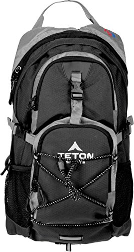 TETON Sports Oasis 1100 Hydration Backpack With CampingForFoodies Desert Hiking Tips And Techniques For Beginners To Have Confidence With The Proper Gear, Boots, Clothing, First Aid And Hiking Essentials