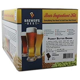 Brewer's Best Home Brew 5 Gallon Beer Ingredient Recipe Kit – Peanut Butter Porter