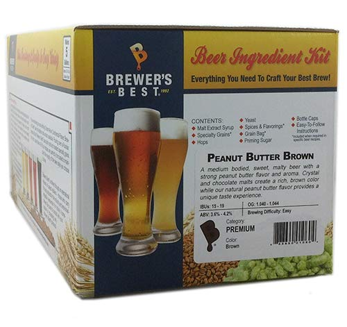 Brewer's Best Home Brew 5 Gallon Beer Ingredient Recipe Kit - Peanut Butter Porter