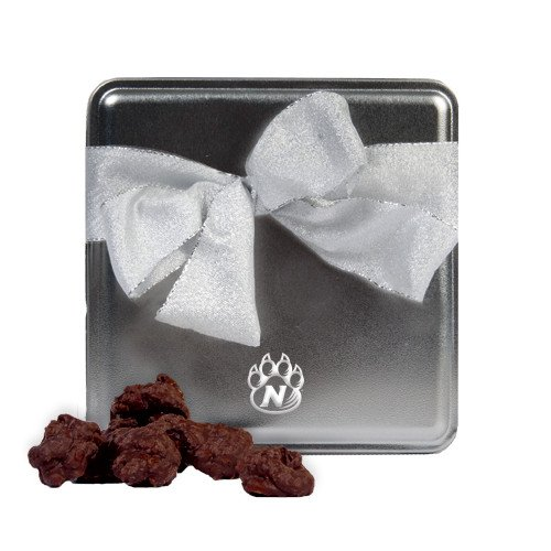 Northwest Missouri State Decadent Chocolate Clusters Silver Medium Tin 'Official Logo Engraved'