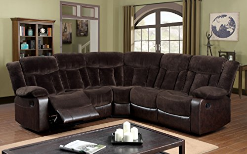 Furniture of America Patton Sectional 2-Recliner (Theater Sectional)