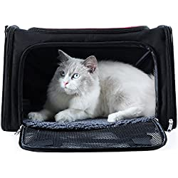 A4Pet Collapsible Pet Travel Carrier for Medium Cat and Puppy