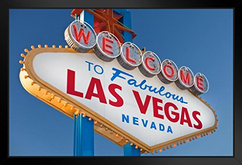 Welcome To Fabulous Las Vegas Sign Photo Art Print Framed Poster 12x18 by ProFrames - Flamingo Las Vegas
