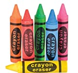 2.5'' CRAYON ERASERS, Case of 864