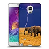 img - for Hello-Mobile Soft Flexible TPU Slim Fit Cover Case // V00004390 Elephants run away from storm // Samsung Galaxy Note 4 IV book / textbook / text book