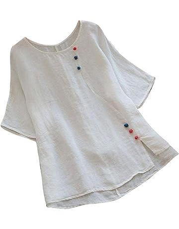 4529e3719e563 Sttech1 Women Retro Wave Point T-Shirt O-Neck Short Sleeve Loose Top Blouse