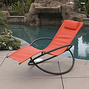 Belleze Folding Orbital Zero Gravity Recliner - Orange