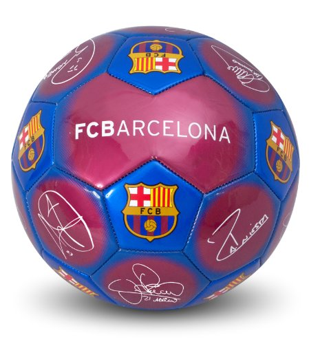 fan products of FC Barcelona Signature Ball Size 5 Messi! Iniesta!