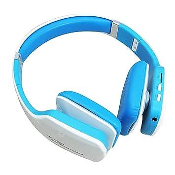 Auriculares Deportivos inalámbricos Bluetooth, subwoofer Plegable en la Cabeza Ordenador portátil Auriculares de música con