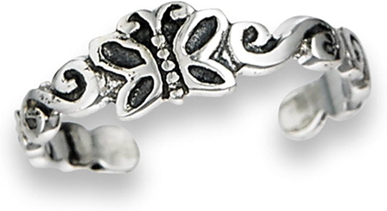 TBT Sterling silver toe band Bohemian jewelry Butterflies toe ring Minimalist toe ring Body jewelry Cute toe ring
