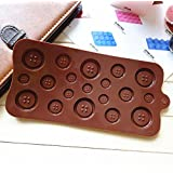 Yueton Silicone Button Chocolate Jelly Ice Muffin Sweet Candy Sugar Craft Fondant Mold Mould/ Tray Cake Decorating Tools, Xmas DIY