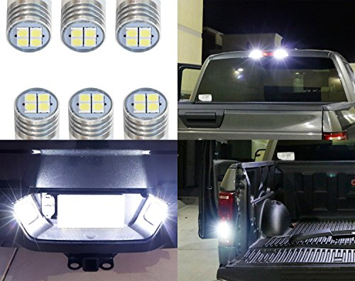 iJDMTOY Complete 6pcs Super Bright Xenon White LED License Plate, Backup and High Mount Clearance Lights Combo Kit For 2007-2018 Dodge RAM 1500 2500 3500 w/Reflector Headlamps ()
