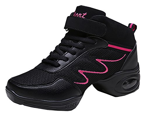 Criss Sneakers Hip High Damen Schwarz Moderne Schuhe Dance Erwachsene Dance Fitness Cross Mesh Jazz Breathable VECJUNIA Top Jazz Hop 5wA8Pqq