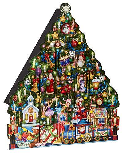 [해외]Christmas Tree Wooden Advent Calendar / Christmas Tree Wooden Advent Calendar