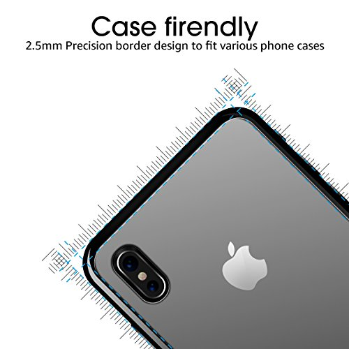Iphone X Back Screen Protector Glass[2-Packs],iPhone X Tempered Glass Back [Anti-Fingerprint][Double Defense] Protector for Apple iPhone X / 10