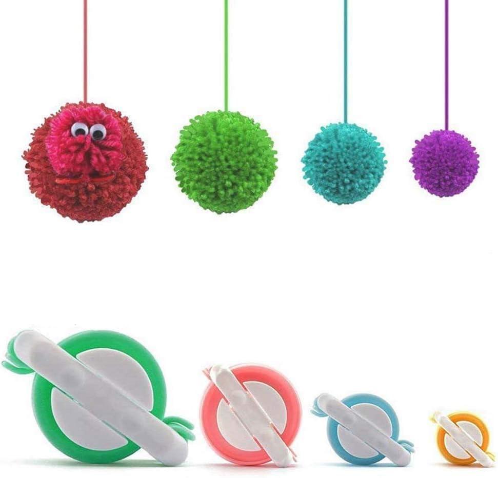 JUHONNZ PON PON Maker,8 PCS Pompon Maker Kit Pom Poms Telaio per Realizzare Pompon Strumento di Fabbricazione Set di Strumenti per Maglieria in Lana per Artigianato Artistico