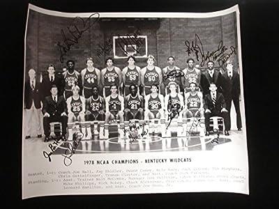 1978 University of Kentucky Basketball 19x15 Team Photograph - 14 Autographs - Autographed College Photos