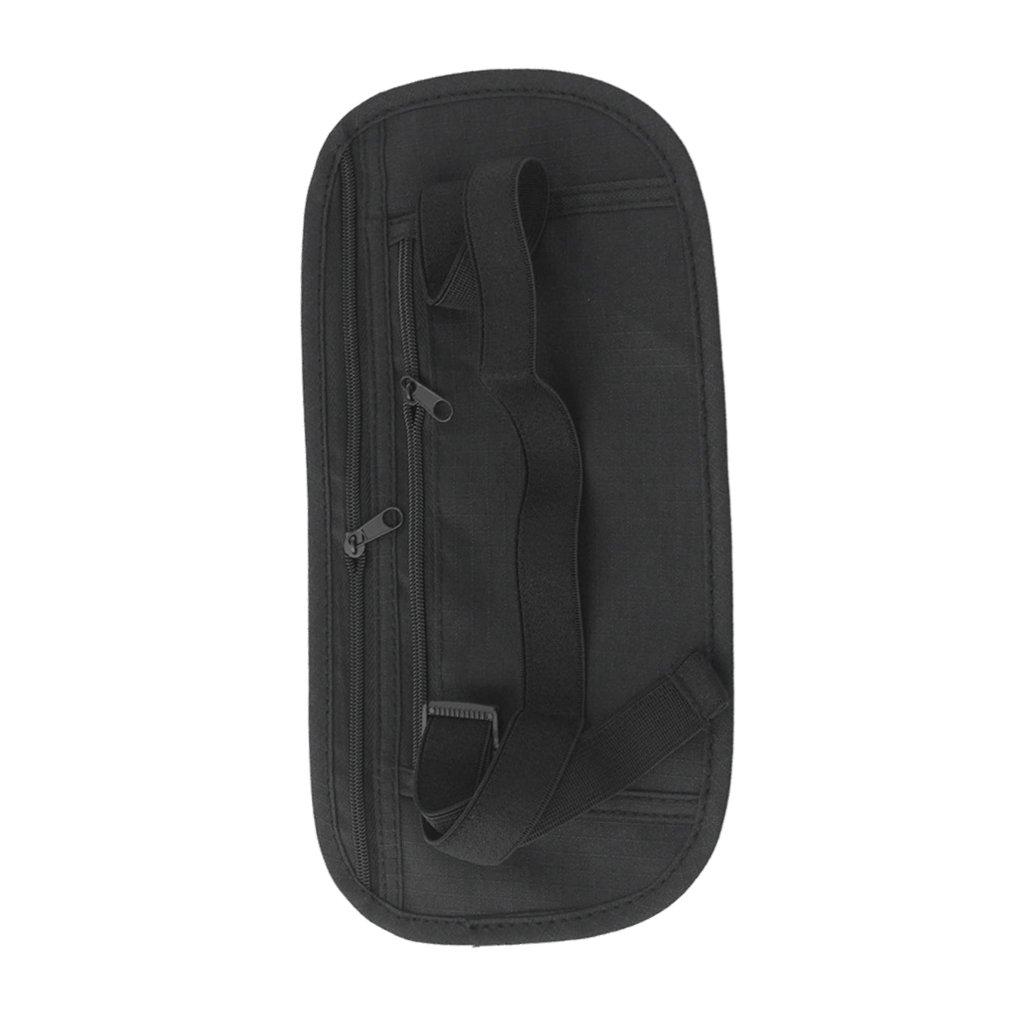 MagiDeal Money Belt Bum Bag Hidden Pouch Travel Fanny Pack Secret Waist Belts Black STK0154001484