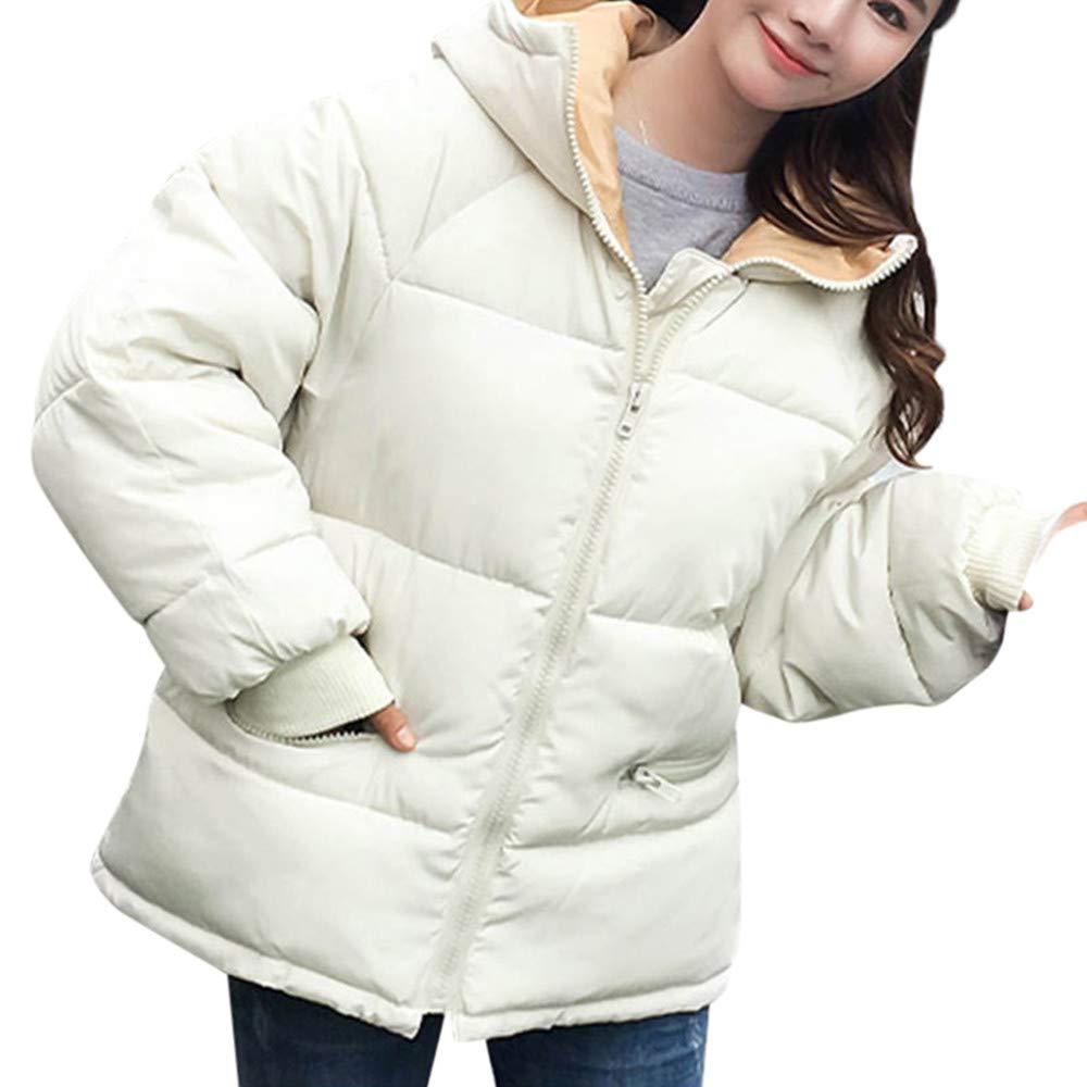 Abrigos Mujer, Hanomes Mujer Abrigo de Invierno Abrigo con Capucha Abrigo con Capucha Chaqueta de algodón Acolchado