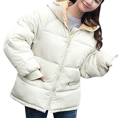 Yvelands Mujeres Invierno Abrigos cálidos Mangas largas con Abrigo de Chaqueta de algodón con Capucha(