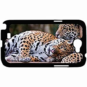 New Style Customized Back Cover Case For Samsung Galaxy Note 2 Hardshell Case, Back Cover Design Jaguar Personalized Unique Case For Samsung Note 2