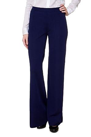 d7a1fb31f1 Luisa Spagnoli Fine knit pants CAMRI, Color: Dark blue, Size: 36 ...