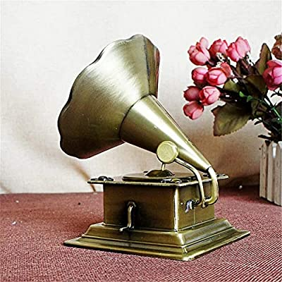 IMAX® Estatua de fonógrafo Retro de Metal de Bronce clásico Modelo ...
