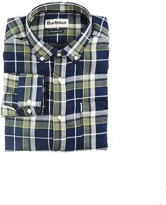 Barbour Camisa Verde Cuadros para Hombre x-Large: Amazon.es: Ropa