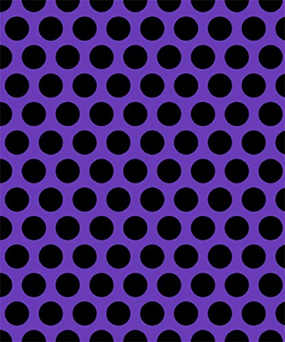 [Knit Purple with Black Dots Design Fabric By the Yard, 95% Cotton, 5% Lycra, 60 Inches Wide, Excellent Quality, 4 Way Stretch, medium weight (2] (Vintage Paisley Print Costumes)