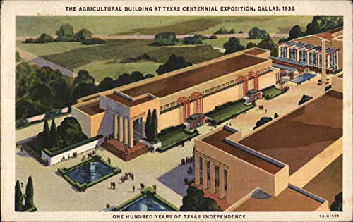 Texas Centennial Exposition 1936 - Agricultural Building Dallas Original Vintage Postcard from CardCow Vintage Postcards