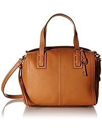 Fossil Women's Emma Convertible Leather Leather Shoulder Bag Satchel