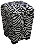 Ore International HB4435 Zebra Storage Ottoman, 19.5-Inch For Sale