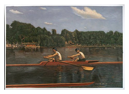 The Biglin Brothers Racing - Thomas Eakins high quality hand-painted oil painting reproduction,two men boating on Schuylkill River,living room decoration