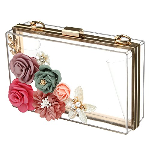 SSMK Evening Bag, Poschette giorno donna trasparente Transparent