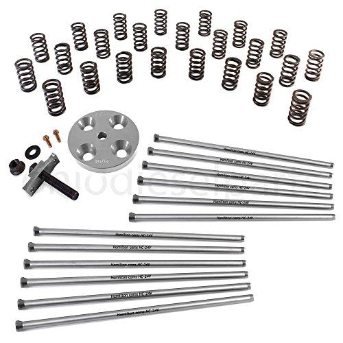 Heavy Duty Valve Springs - Hamilton Cams 24Valve 103lb Springs + Heavy Duty Pushrods + Retainers + Spring Compressor Tool