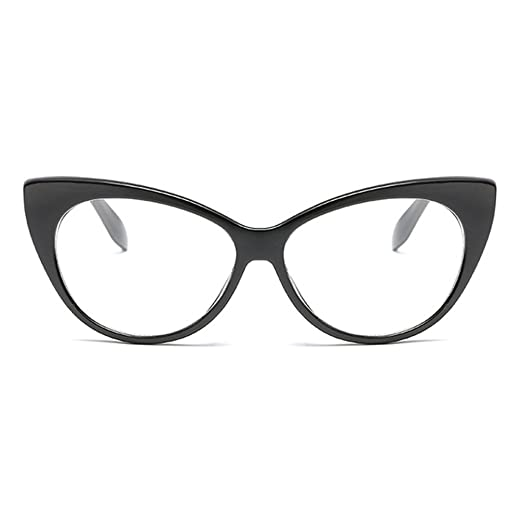 de0cd749f050 Armear Retro Cat Eye Clear Glasses Non Prescription Eyeglasses Eyewear  Frames for Women Men (Black