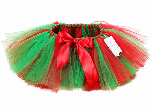 Tutu Dreams Classic Christmas Party Elastic Skirts for Girls 1-12y ()