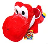 Super Mario oversized Kutatsu and stuffed Yoshi red Yoshi single item