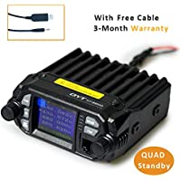 QYT KT-8900D (Upgraded 2nd Gen.) Mobile Transceiver Dual Band QUAD Standby VHF/UHF 136-174/400-480MHz Mini Car Radio Amateur (HAM) Radio