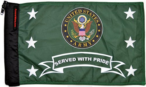 Forever Wave United States Army Served With Pride Flag